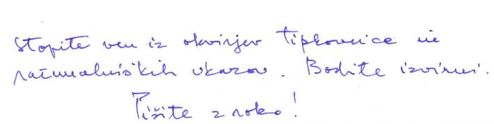 Pišite z roko
